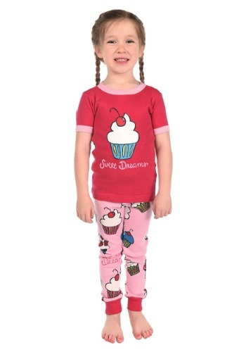 Kids Sweet Dreams Cupcake Short Sleeve Pajama Set