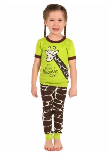 Kids Looong Day Giraffe Short Sleeve Pajama Set