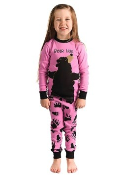 Bear Hug Long Sleeve Girls Pajama Set-update1