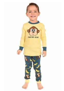 Kids Monkeying Around Long Sleeve Pajama Set
