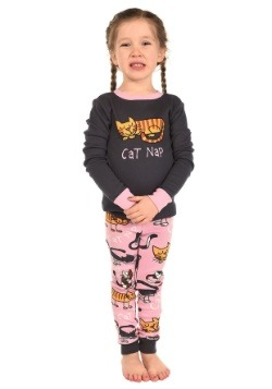 Girls Cat Nap Long Sleeve Pajama Set