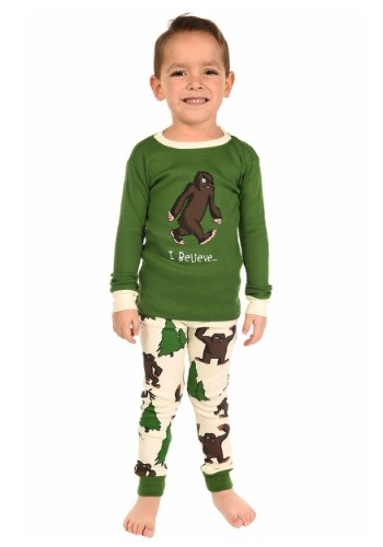 Kids I Believe… Bigfoot Long Sleeve Pajama Set