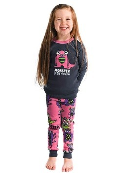 Girls Monster in the Morning Long Sleeve Pajama Set Update1
