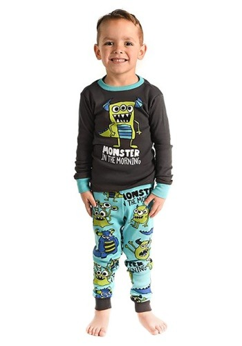 Monster in the Morning Long Sleeve Pajama Set for Boys Updat