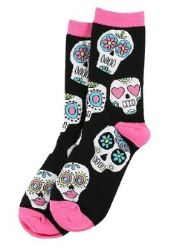 Dead Tired Women's Sugar Skull Crew Sock