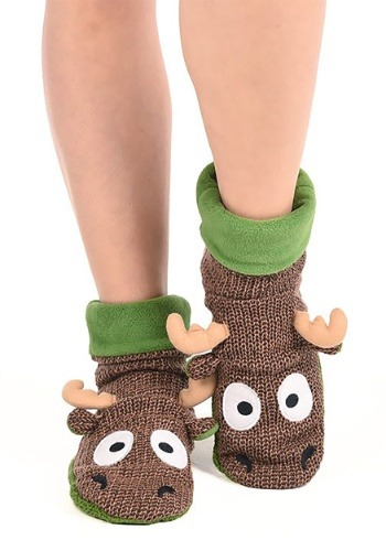 Moose Woodland Slippers for Adults