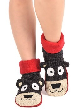 Adult Bear Woodland Slippers