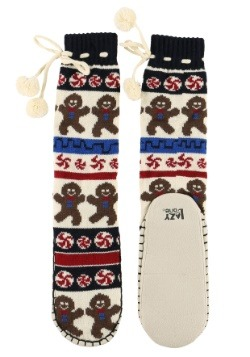 Adult Gingerbread Mukluk Slippers