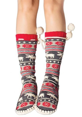 Moose Fair Isle Mukluk Adult Slippers