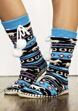 Adult Fair Isle Horse Mukluk Slipper