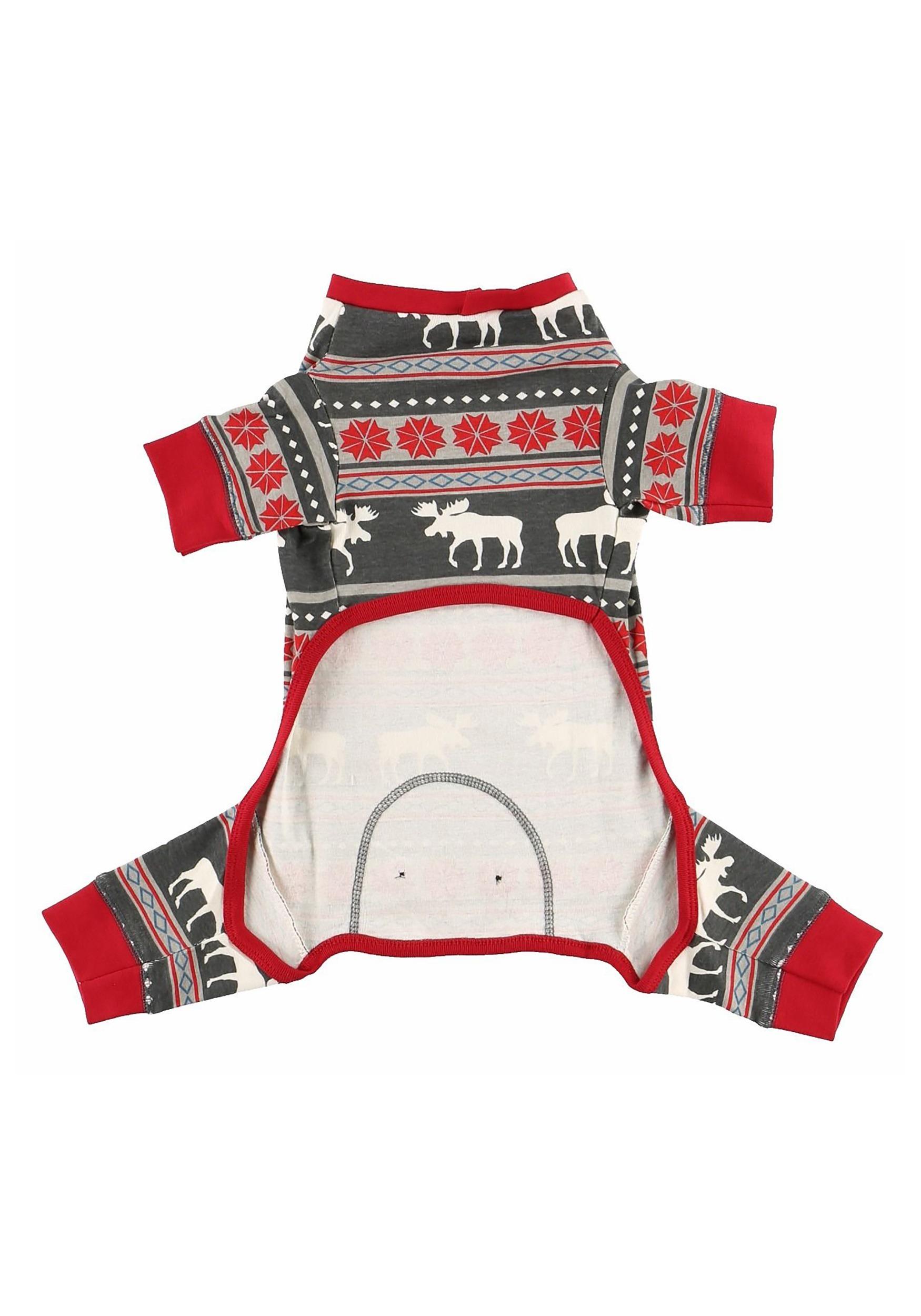 Moose Fair Isle Pattern Dog Pajama Flapjacks Alt2 c63103200