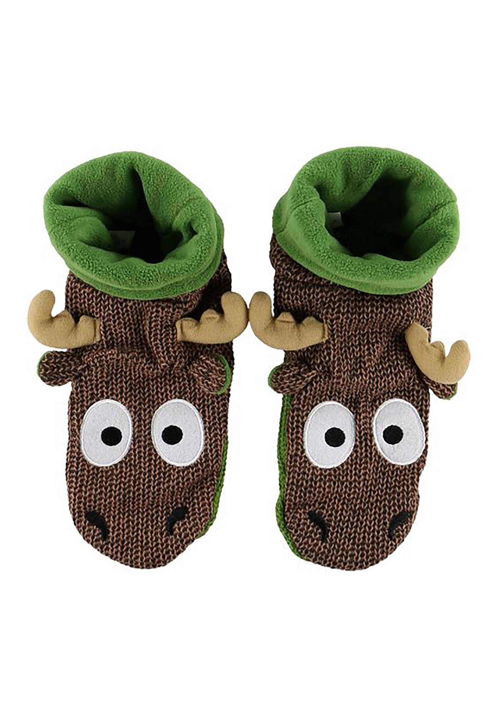 bc495ef09 Kids Moose Woodland Slippers Alt1