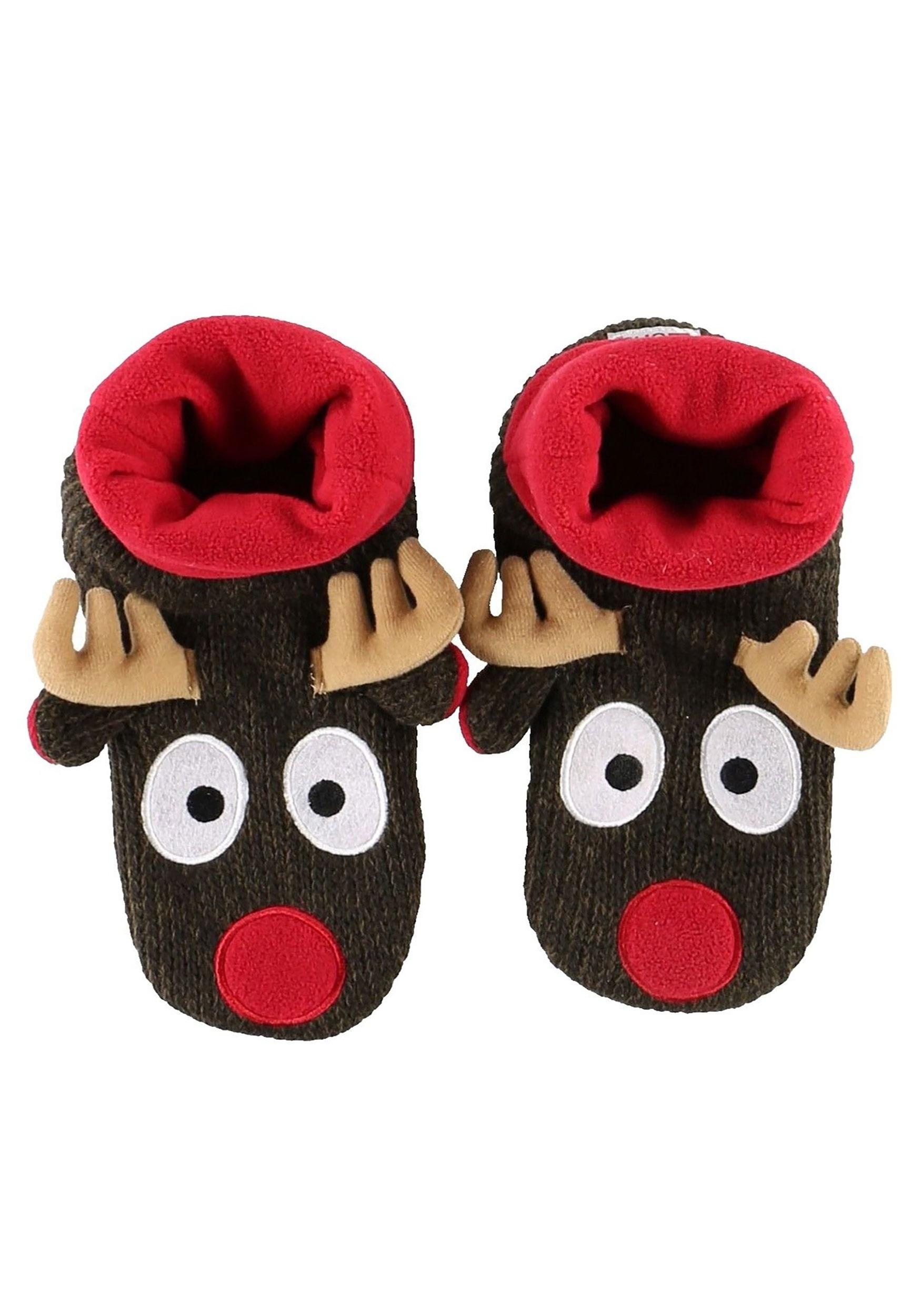 Boys Slippers 3D Plush Novelty Fun Gift Christmas