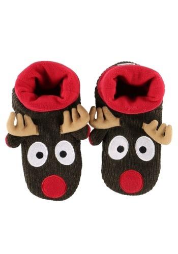Kids Reindeer Woodland Slippers
