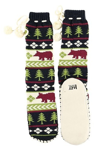 Kids Bear Fair Isle Mukluk Slipper