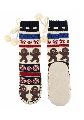 Kids Gingerbread Mukluk Slipper