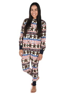 Adult Sweet Cheeks Gingerbread Man Flapjack Pajamas