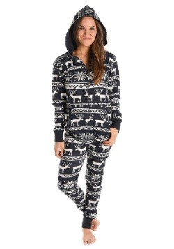 Women's Nordic Reindeer Hooded Onesie
