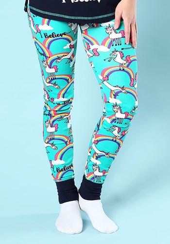 Women's I Believe Unicorn Pajama Leggings new 1