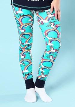 Womens I Believe Unicorn Pajama Leggings Main