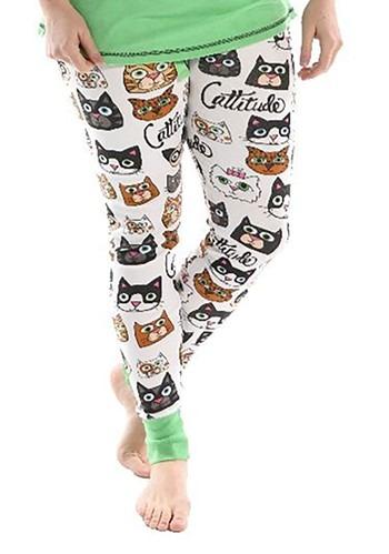 Womens Catitude Pajama Leggings new 1