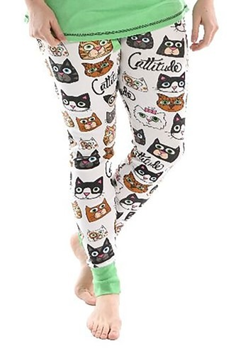 Womens Catitude Pajama Leggings