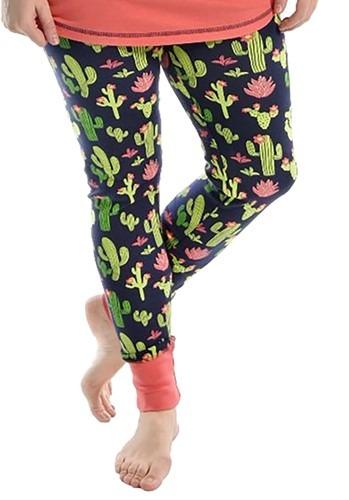 Women's Cactus Print Pajama Leggings