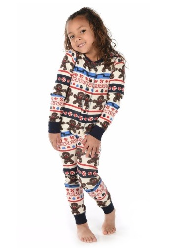 Kids Sweet Cheeks Gingerbread Man Flapjack Pajamas