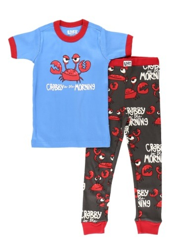 Kids Crabby in the Morning Short Sleeve Pajama Set