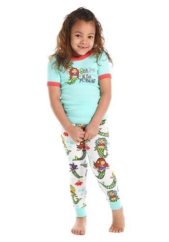 Kids Sea You in the Morning Mermaid Short Sleeve Pajamas Upd