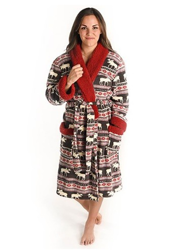 Adult Moose Fair Isle Bathrobe