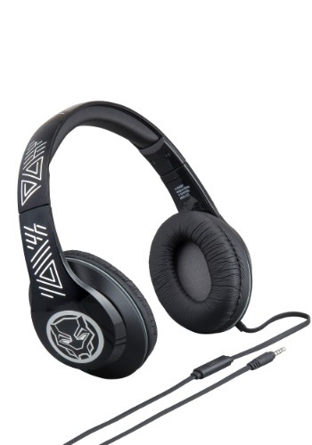 Black Panther Headphones w/ in line Microphone