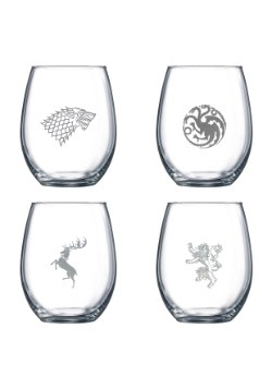 Stemless Game of Thrones Wine Glass Set main 1