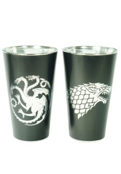 Game of Thrones Jon & Daenerys 2pc Pint Glass Set