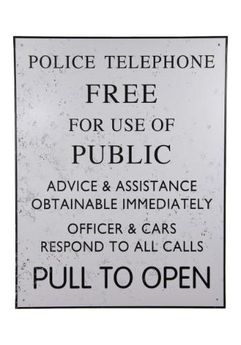 Doctor Who Tardis Police Tin Sign
