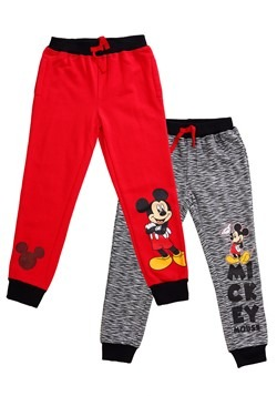 Mickey Mouse Boy's Fleece Pants 2-Pack