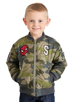 Marvel SpiderMan Green Camo Print Nylon Jacket for Toddlers