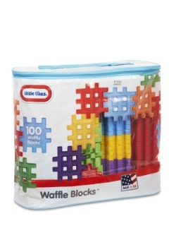 Little Tikes Construction Waffle Blocks 100 pc Bag
