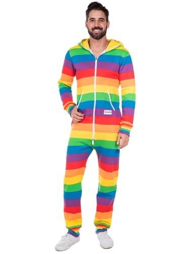 Men's Tipsy Elves Rainbow Jumpsuit