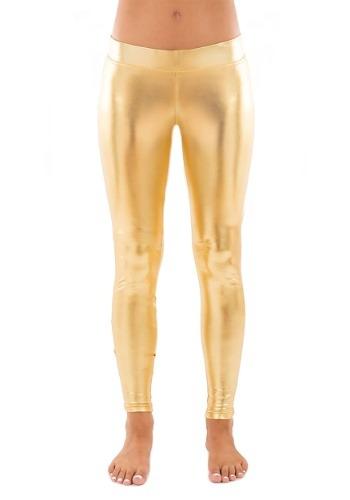 Tipsy Elves Gold Leggings for Women
