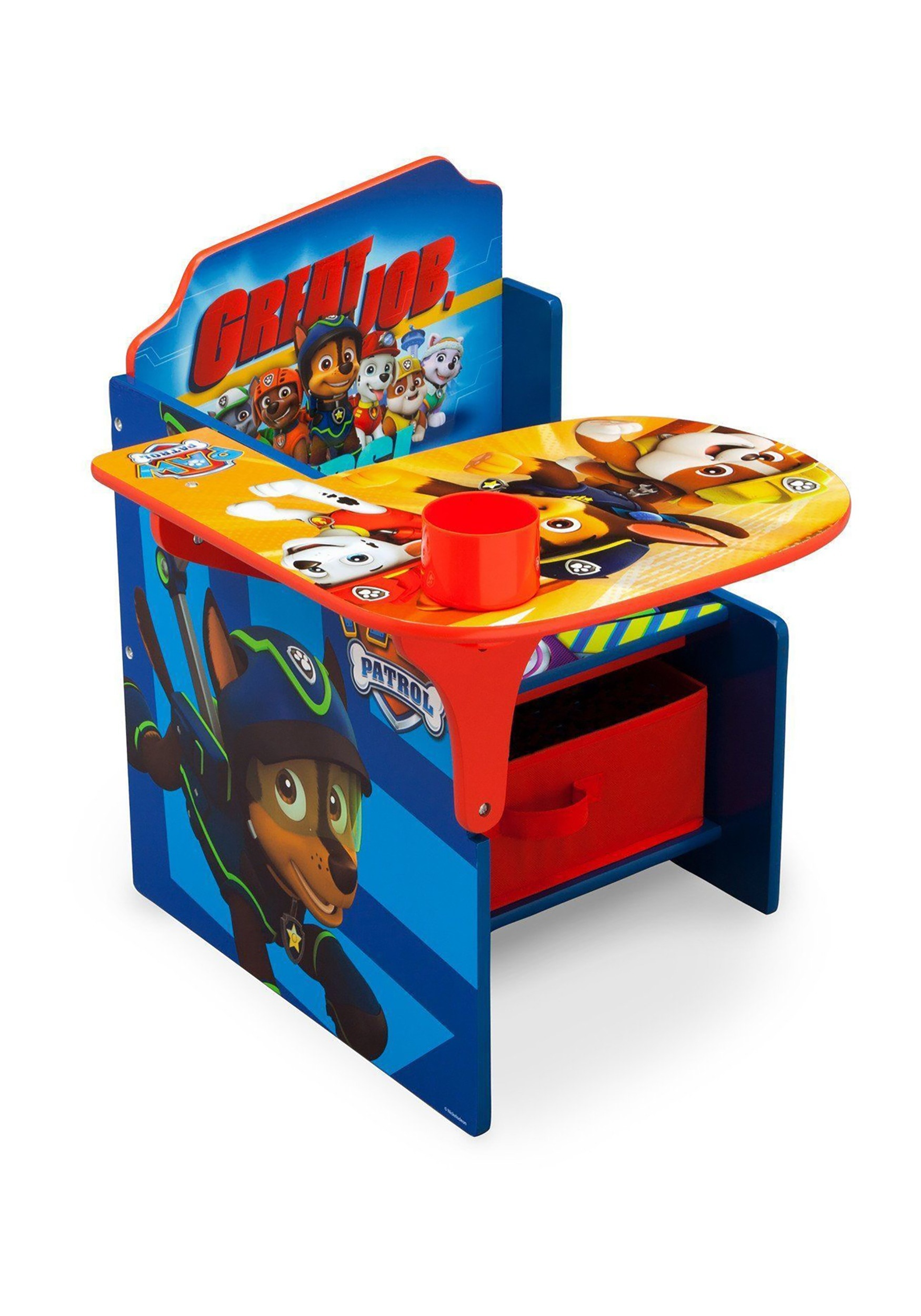 Paw Patrol Chair Desk With Storage Bin