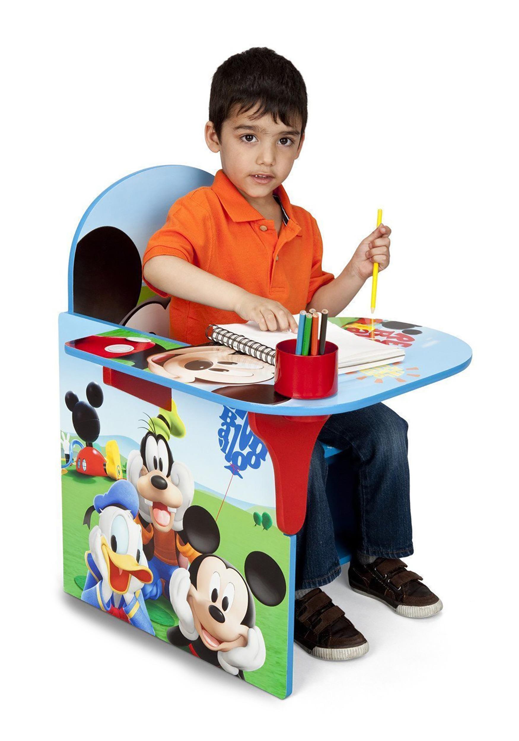 Phenomenal Mickey Mouse Chair Desk With Storage Bin Creativecarmelina Interior Chair Design Creativecarmelinacom
