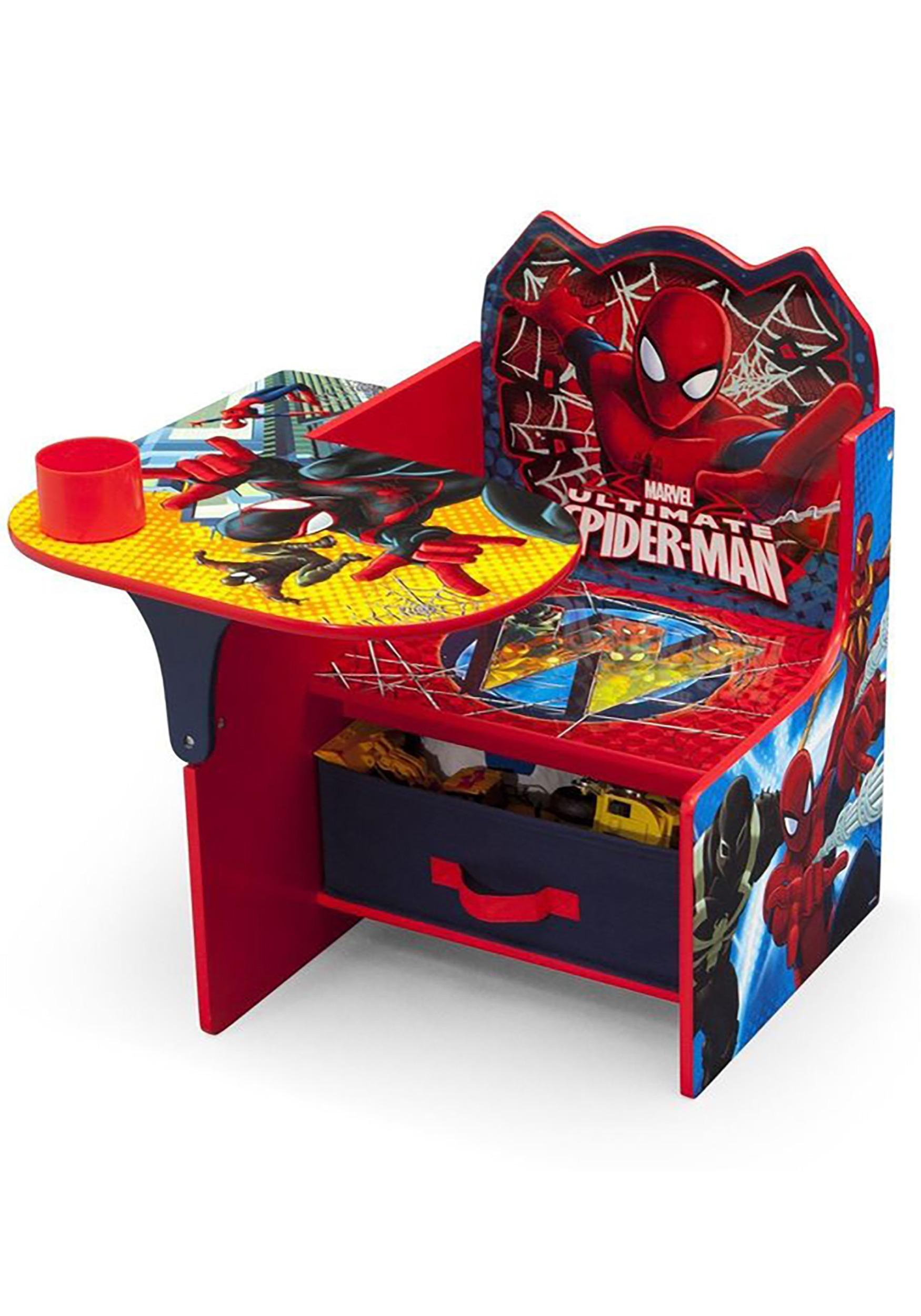 Awe Inspiring Spider Man Chair Desk With Storage Bin Creativecarmelina Interior Chair Design Creativecarmelinacom