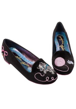 Irregular Choice The Cats Meow Black Flats