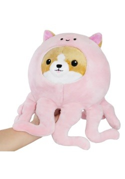 "Corgi in Pink Octopus 7"" Plush"