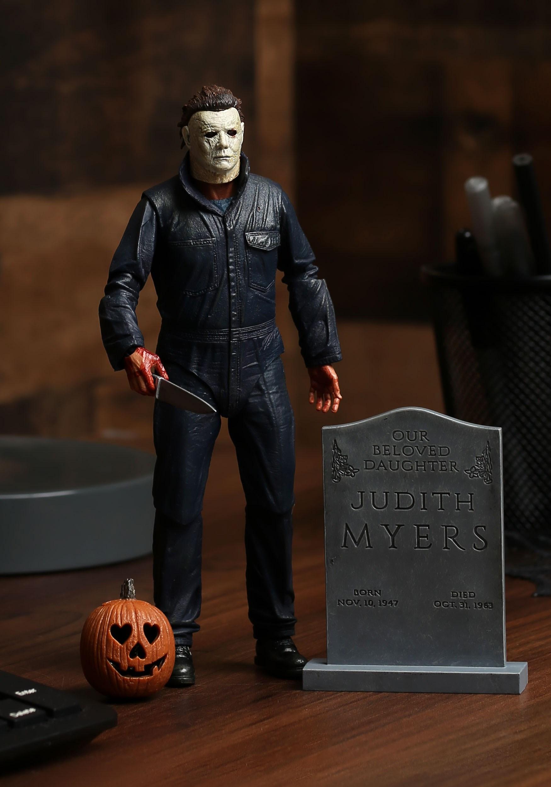 Halloween Michael Myers Costume.Halloween 2018 Michael Myers 7 Scale Action Figure