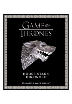 Game of Thrones House Stark Direwolf 3D Mask Wall Mount