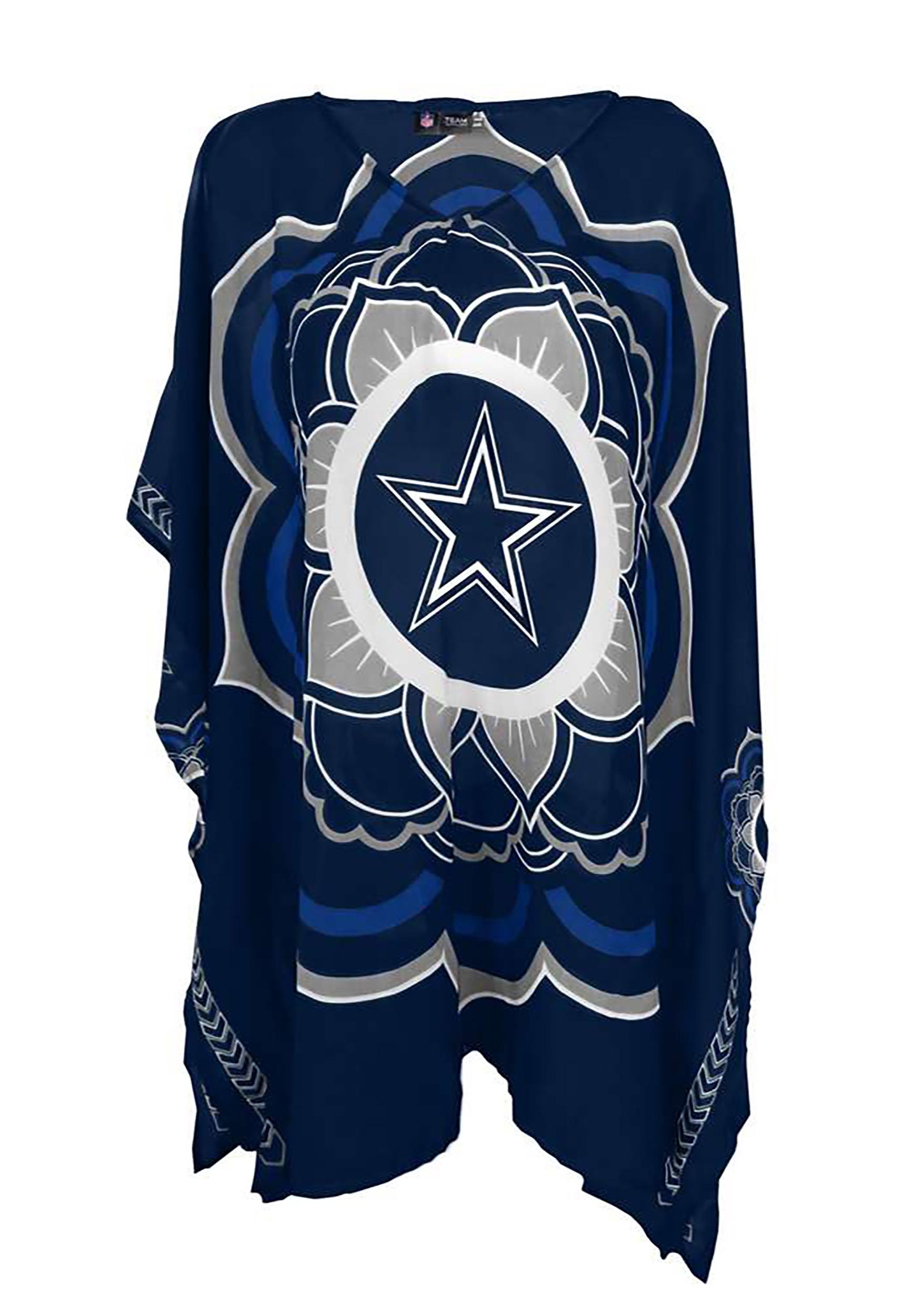 best website 6bd4f 99777 NFL Dallas Cowboys Peace Flower Caftan