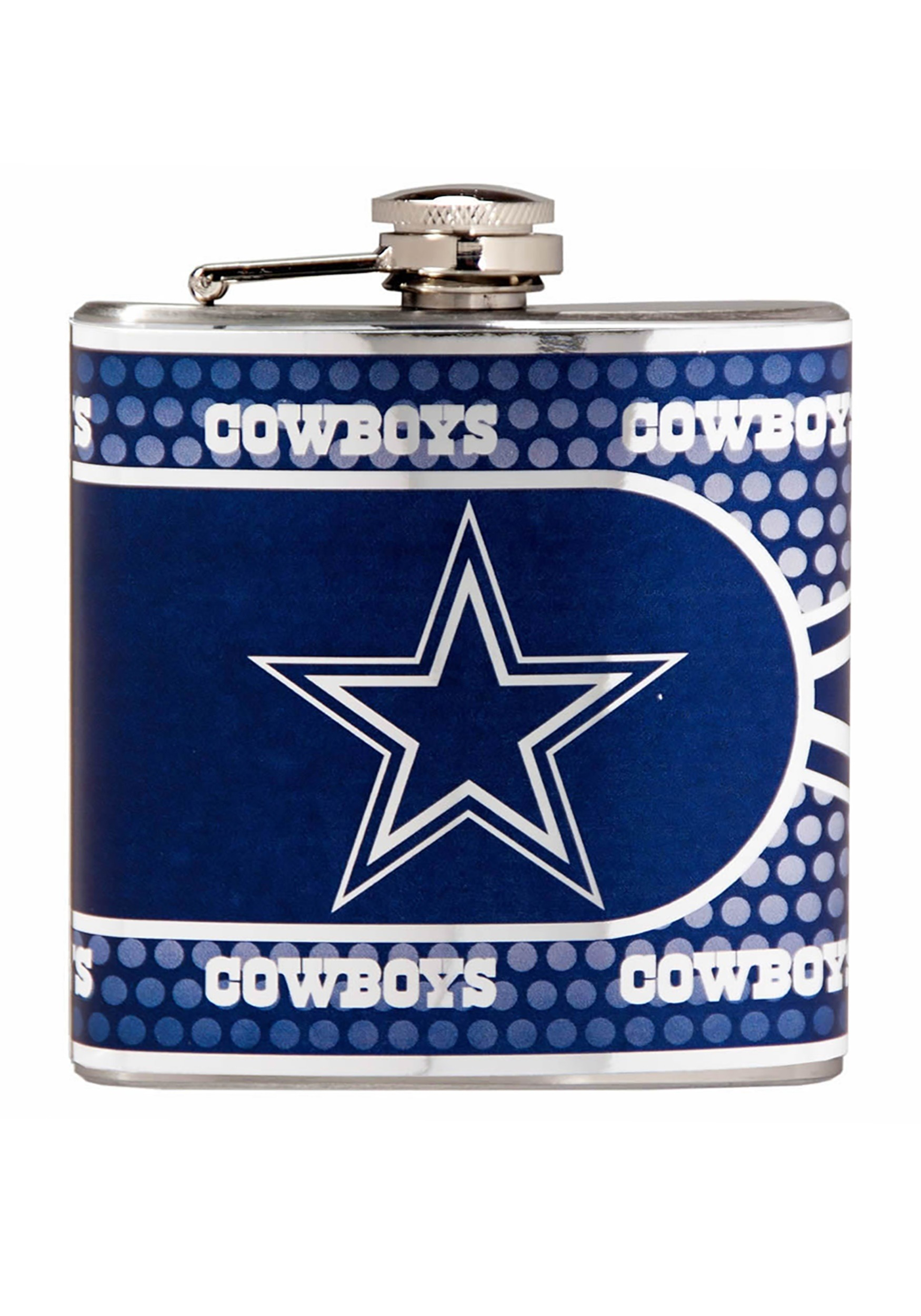 Dallas Cowboys NFL 6 oz. Stainless Steel Flask w/ Metallic Graphics
