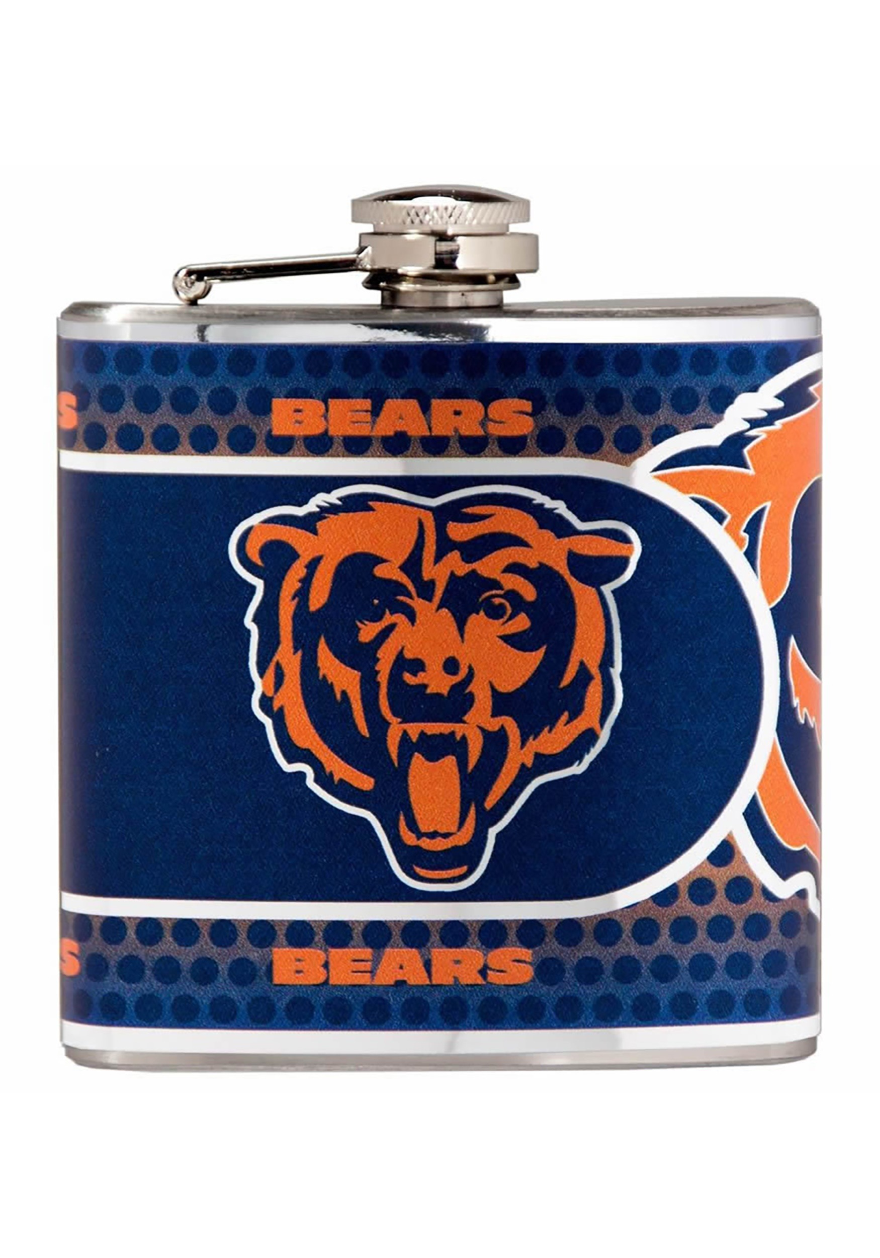 Chicago Bears NFL 6 oz. Stainless Steel Flask w/ Metallic Graphics